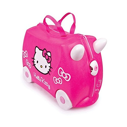 TRUNKI Ride-on - Valise a roulettes pour enfants - Hello Kitty