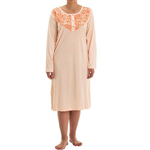 lucky-chemise-de-nuit-a-manches-longues-avec-2-couleurs-milifleur-robe-imprimee-de-qualite-et-broder