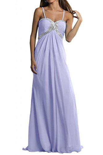 Toscana sposa Chiffon Rueckenfrei Scheind sera un'ampia giovane a lungo per abiti da sposa Party ball vestimento Lavanda