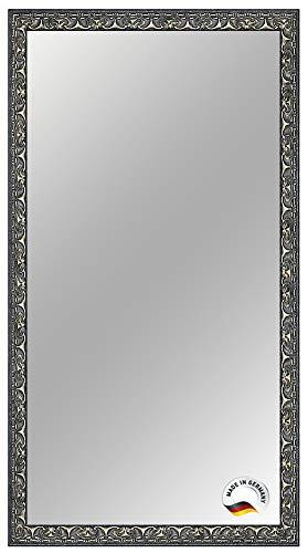 Frame World Spiegelrahmen nach Maß, 30 cm x 160 cm, Farbe: Schwarz Silber Barock, Spiegel Wandspiegel Badspiegel Bad Flur