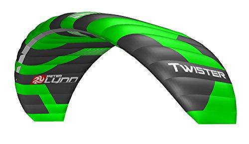 Lenkmatte Lenkdrachen Peter Lynn Twister 7.5 (R2F) mit Handles und Safety Leash 4-Line Powerkite Stranddrachen für Kitebuggy und ATB Board