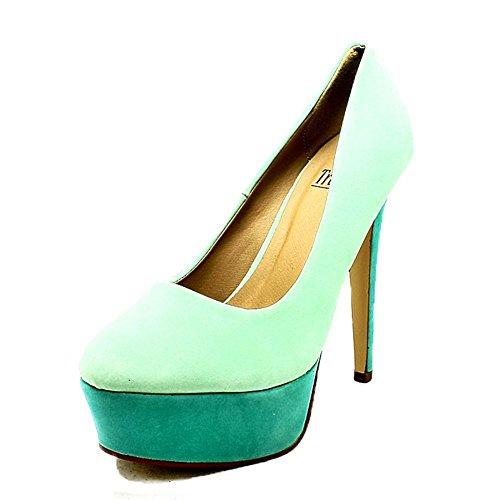 haut chaussures blue forme talon Tone Ladies Deux plate cour n4Tq7xp