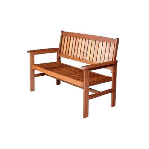 Panca in legno da giardino 121x63x89 cm