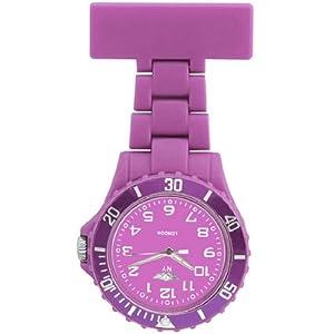 Prince London, New York, gummierter Kunststoff Schwesternuhr Uhr mit Stift, Violett