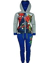 Niños Marvel Spiderman Chándal / Jogging Conjunto Gris / Azul