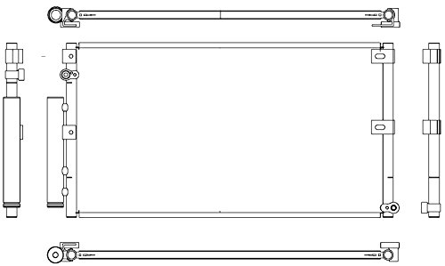 Preisvergleich Produktbild BEHR HELLA SERVICE 8FC 351 307-121 Kondensator,  Klimaanlage