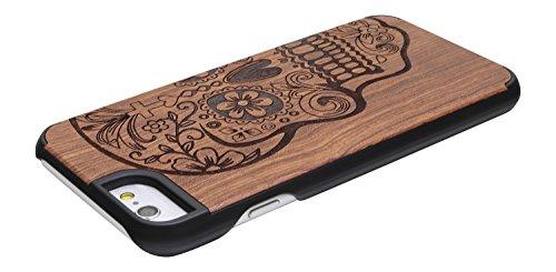 """SunSmart Klassische hölzerne Abdeckung iPhone 6 Natural Wood Schutzhülle für iPhone 6 4.7"""" --39 38"""
