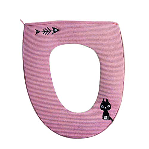 Yvelands Toilette per Bagno Cuscino per Cuscino del Sedile del WC(Rosa)