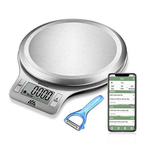Bilancia da cucina digitale multifunzione Bilancia da cucina ricaricabile con pasta raschietto di NUTRI FIT, alta precisione e tara Funzione, 11 lb / 5kg cottura e bilancia da cucina (green)
