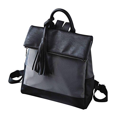 Kronya Elegante Handtasche und Rucksack aus Leder | Arbeit Büro Clutch Damen Damenhandtasche Damentasche Henkeltasche Schule Schulrucksack Schultasche Schultertasche Tasche Umhängetasche (Grau)