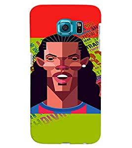PrintVisa Sports Football 3D Hard Polycarbonate Designer Back Case Cover for Samsung Galaxy S6 Edge