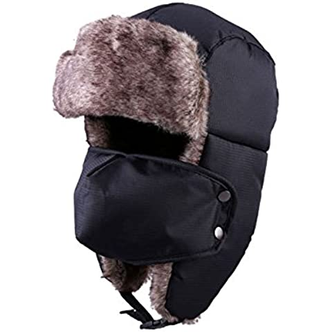 Unisex Invernali Cappello Cap con maschera per Tepore Orecchio Faccia Collo