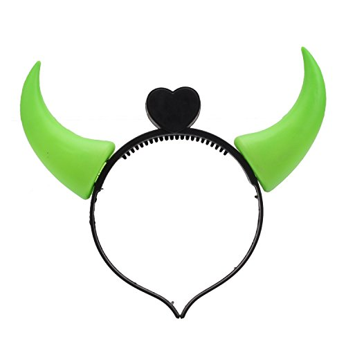ang Konzert LED Licht Ox Horn Hair Hoop Neon Glow (Led-licht Baby-halloween-kostüme)