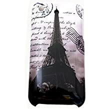 gada - Handyhülle für Apple iPhone 3GS 3G - Schutzhülle Hardcase im stylischen Design - Paris Eiffelturm Frankreich La tour Eiffel s/w