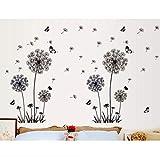 Schmetterling Fliegt In Löwenzahn Schlafzimmer Wohnzimmer Aufkleber Stil Wandaufkleber Design Pvc Wandtattoos 165 * 130Cm