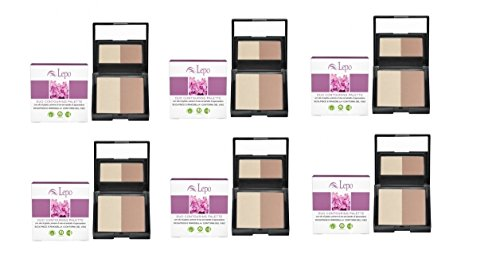 lepo-6-paquetes-de-duo-contouring-palette-para-corregge-y-rimodella-i-lineamenti-del-viso
