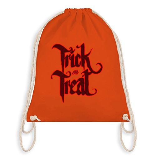 Halloween - Trick or Treat Halloween Typo - Turnbeutel I Gym Bag Orange
