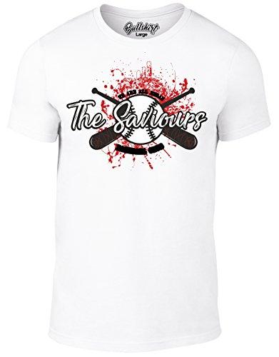 Bullshirt Herren Die Saviours Baseball Club T-Shirt Weiß