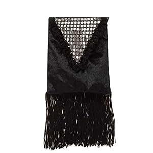 Sac à main femme noir sac main années 20 charleston sac à main de femme accessoire déguisement carnaval