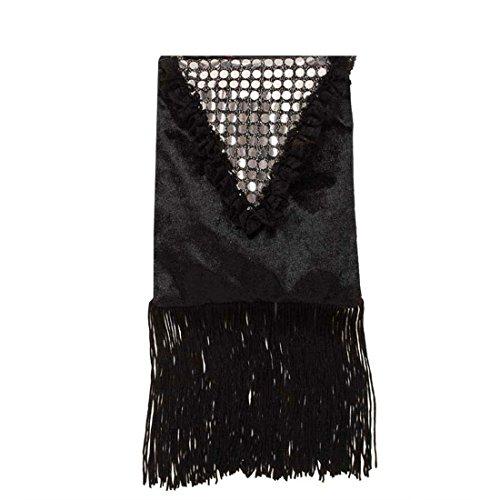 NET TOYS Damen Handtasche schwarz Hand Tasche 20er Jahre Charleston Damenhandtasche Kostüm Zubehör Fasching Karneval