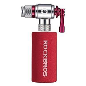 Bomba de cartucho de CO2 RockBros Inflador de CO2 para bicicleta de montaña / bicicleta de carretera Presta y válvula Schrader con cubierta aislada