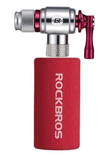 ROCKBROS CO2 Kartuschenpumpe CO2 Inflator für Mountainbike/Rennrad Presta & Schrader Ventil mit Isolierter Hülle -