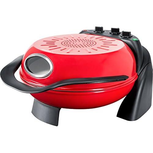 41c7JXKRMfL. SS500  - Steba PB 1 Pizza Oven with Rotating Plate, 1000 W, Red/Black