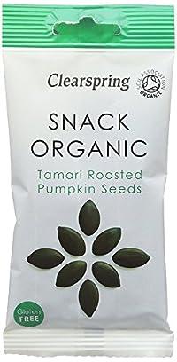 Clearspring Organic Tamari Roasted Styrian Pumpkin Seeds 30 g (Pack of 15)