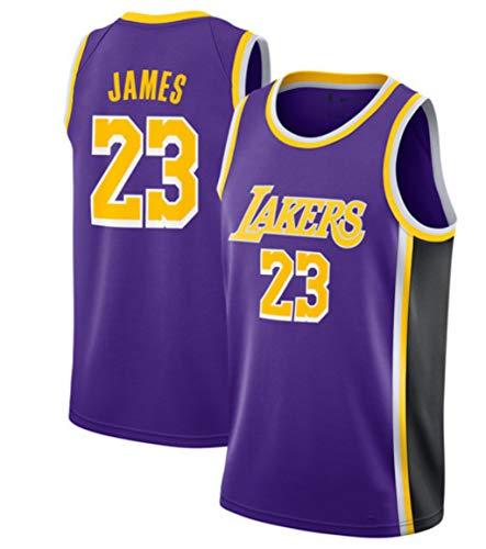 Lebron James, Maillot De Basket-Ball, Lakers, Édition Classique, Nouveau Tissu Brodé (Violet, S)