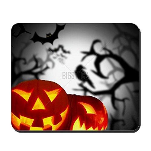LBS4ALL Scary Halloween Hintergrund Rechteck rutschfeste Gummi Mauspad 17,8x 22,9cm