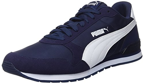 Puma St Runner V2 Nl, Baskets Basses Mixte Adulte, Bleu (Peacoat-Puma White 8), 46 EU