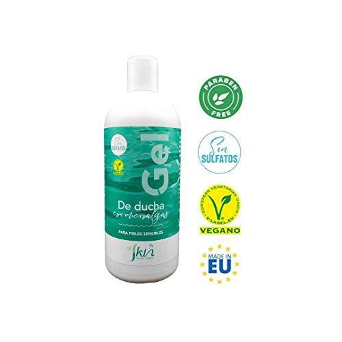 Alskin - Gel de Ducha Sin Parabenos y Sin Sulfatos | Vegano | Gel de Baño a Base de Microalgas Indicado Para Pieles Sensibles | 500mL
