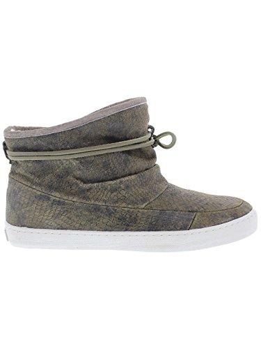 Damen Schuh HUB Queen Schuhe Frauen Dark Olive/White
