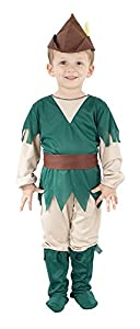 Bristol Novelty CC034 Robin Hood - Disfraz Infantil (Talla XS), Color Verde