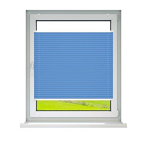 VICTORIA M Plissee Klemmfix ohne Bohren – EasyFix Größe: 60 x 200 cm, Farbe: blau - 2
