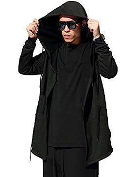 YCHENG Hombre Manga Larga Hooded Manto Abrigos Casual Cardigan Outwear
