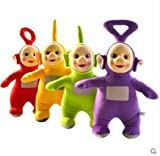 #8: Teletubbies Laa Po Tinky Dipsy Plush Toy Doll Set 4pc/lot Doll 25-30 cm Soft Cute Filled PP Cotton Kid Gift Toy