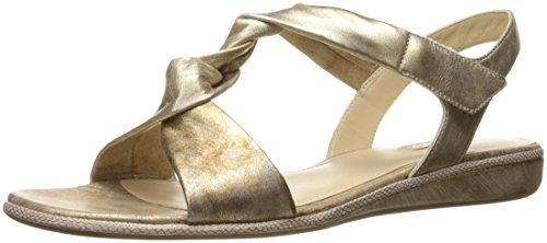 Ecco Damen Bouillon Sandal 3.0 Offene Keilabsatz, Gold (1091GOLD), 38 EU