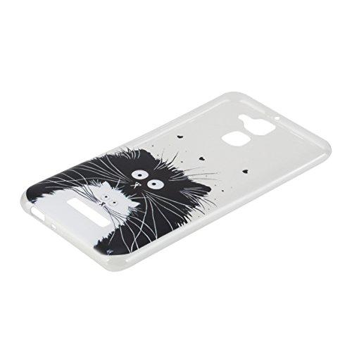 WYSTORE Asus Zenfone 3 Max ZC520TL Case Silicone Coque Souple Transparente TPU Silicone en Gel Case Premium Ultra-Light Ultra-Mince Skin de Protection Pare-Chocs Anti-Choc Bumper pour Asus Zenfone 3 M Petits animaux