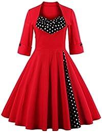 Dissa M1323 DamenRockabilly 50er Vintage Retro Kleid Partykleider Cocktailkleider