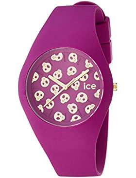 Ice-Watch Damen - Armbanduhr Ice Skull Analog Quarz Silikon ICE.SK.DAM.U.S.15