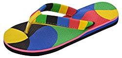 Areno Girls Multi-Coloured PU House Slippers_7 UK