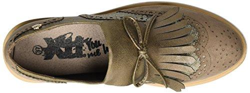 XTI Damen Taupe Microfiber Combined Ladies Shoes Platform Sneakers Braun (Taupe)