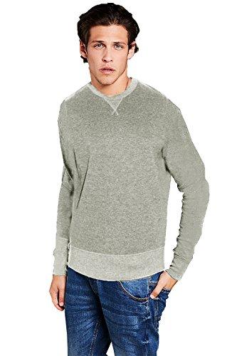 Herren Brave Soul Jonesk Mit Kapuze Sweatshirt Neu Designer V Einsatz Pullover Hellgrau Meliert