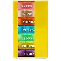 MIUSON Tablettenbox 21 Slots 7-Tage-Pillendosen-Organizer Wöchentlich Medizin Vitamine Aufbewahrungsbehälter Reisekoffer preisvergleich bei billige-tabletten.eu