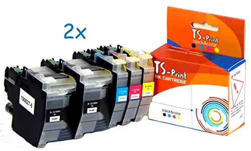 TS-Print Set Druckerpatronen ersetzt Brother 10x LC-3219XL BK/C/M/Y MFC-J5330DW MFC-J5335DW MFC-J5730DW MFC-J5830DW MFC-J5930DW MFC-J6530DW MFC-J6535DW MFC-J6730DW MFC-J6930DW MFC-J6935DW LC-3217 XL