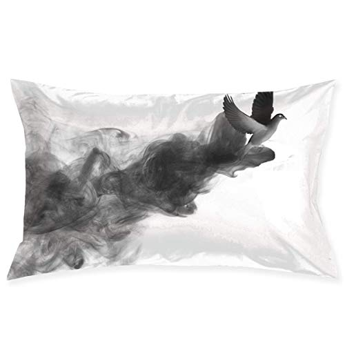 Artistic Bird Ink Painting Pillowcase - Zippered Pillowcase, Pillow Protector, Best Pillow Cover - Standard Size 20x30 Inches, Double-Sided Print (Ideen Body Painting Halloween)