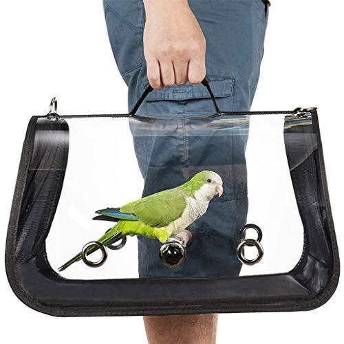 Vogel-Transportkäfig für Vögel und Reisen, atmungsaktiv, für Papageien