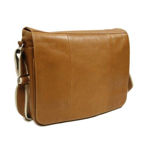 Piel Leder Erweiterbar Messenger Bag (Bag Messenger Erweiterbar Braun)