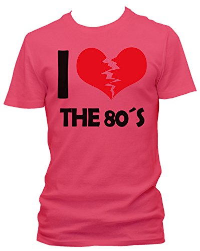NEON Herren T-Shirt I don't love the 80's FUN NEON , Größe:XXL;Farbe:neon pink